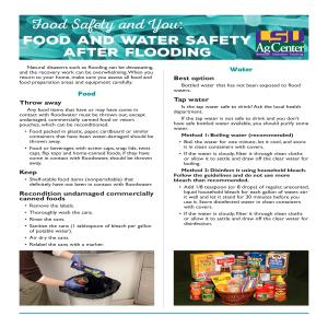 Pub - Food Safety and You - Food Safety After Floodingpdf thumbnail