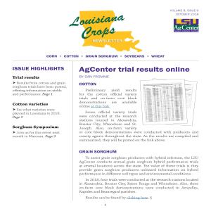 Louisiana Crops newsletter October 2018pdf thumbnail