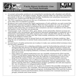 Facts About Antibiotic use in food animalspdf thumbnail