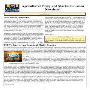 Ag Policy Newsletter - July 2020pdf thumbnail