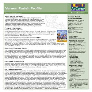 Vernon Parish Profile 2016-17