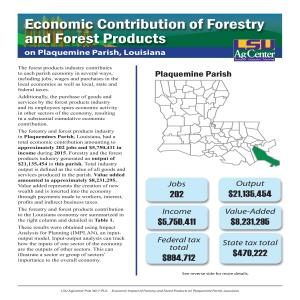 Economic Contributions of Forestry and Forest Products on Plaquemines Parish, Louisiana