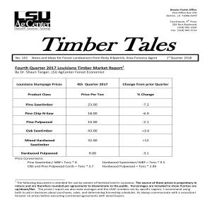 2018 Timber Tales Newsletters
