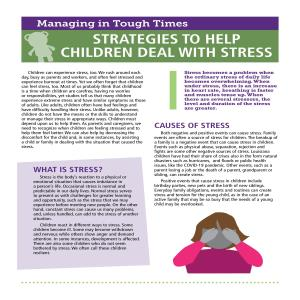 Strategies to Help Children Deal With Stress