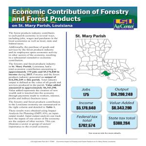 Economic Contributions of Forestry and Forest Products on St. Mary Parish, Louisiana