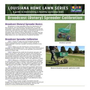 Louisiana Home Lawn Series: ​Broadcast (Rotary) Spreader Calibration