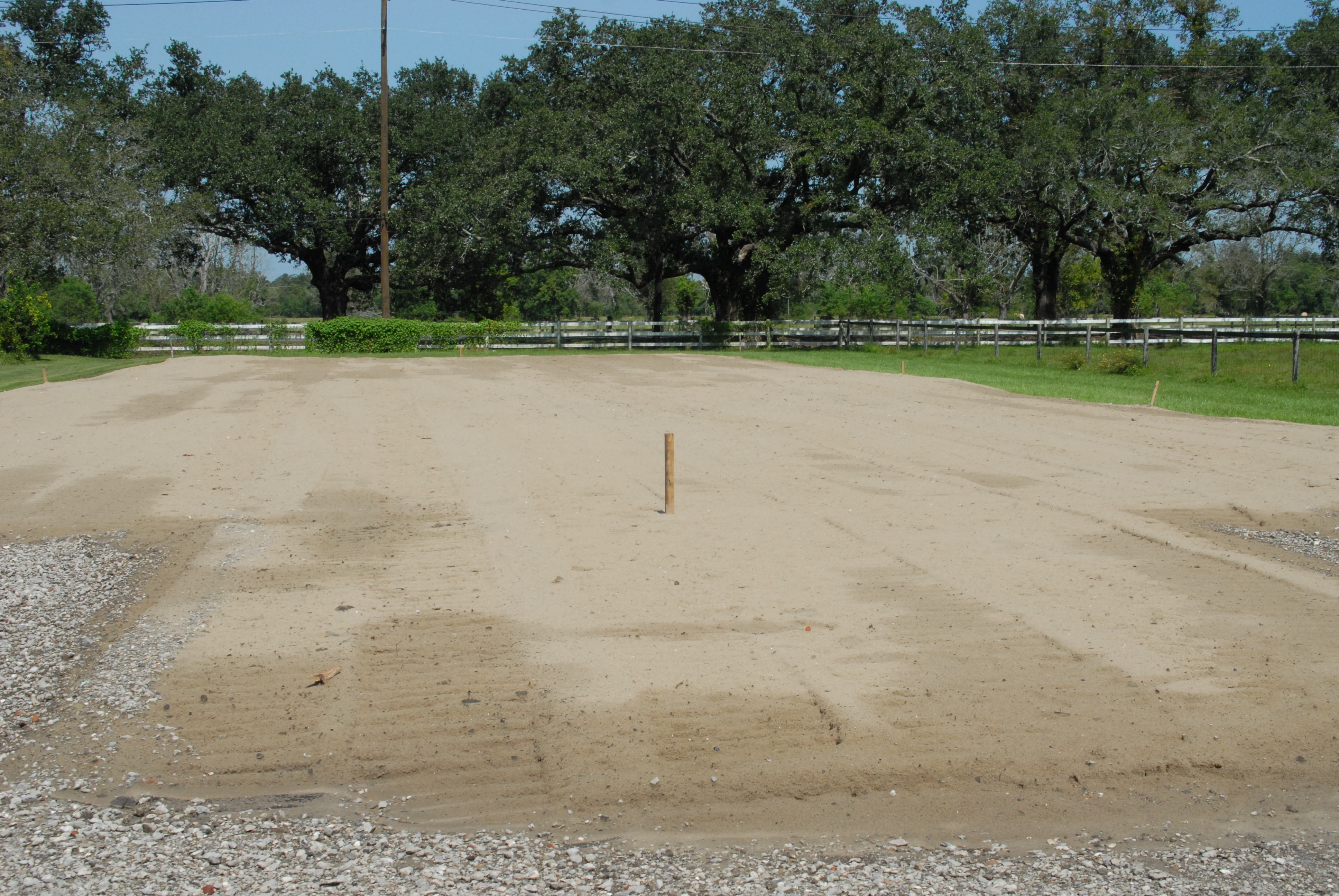 Sand pad at Docville.