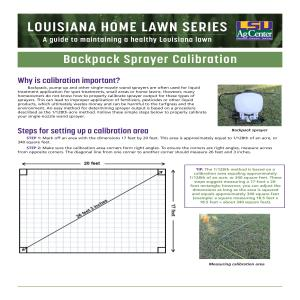 Louisiana Home Lawn Series: ​Backpack Sprayer Calibration