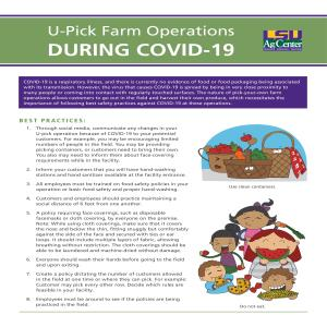 U-Pick Farm Operations During COVID-19