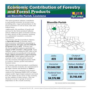 Economic Contribution of Forestry and Forest Products on Bienville Parish, Louisiana