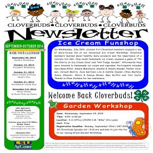 2014-15 Cloverbud Newsletters