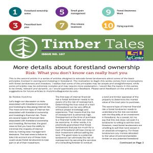 Timber Tales, Issue No. 167 (Fall 2019)