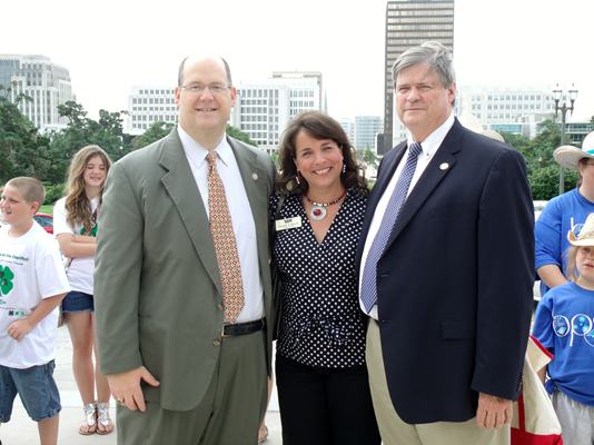 Representatives Burns and Thompson with 4-H agent