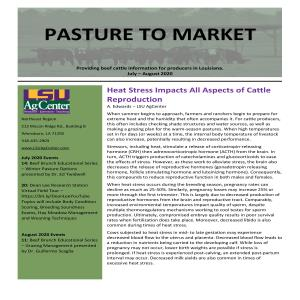 Pasture to Market eNewsletter