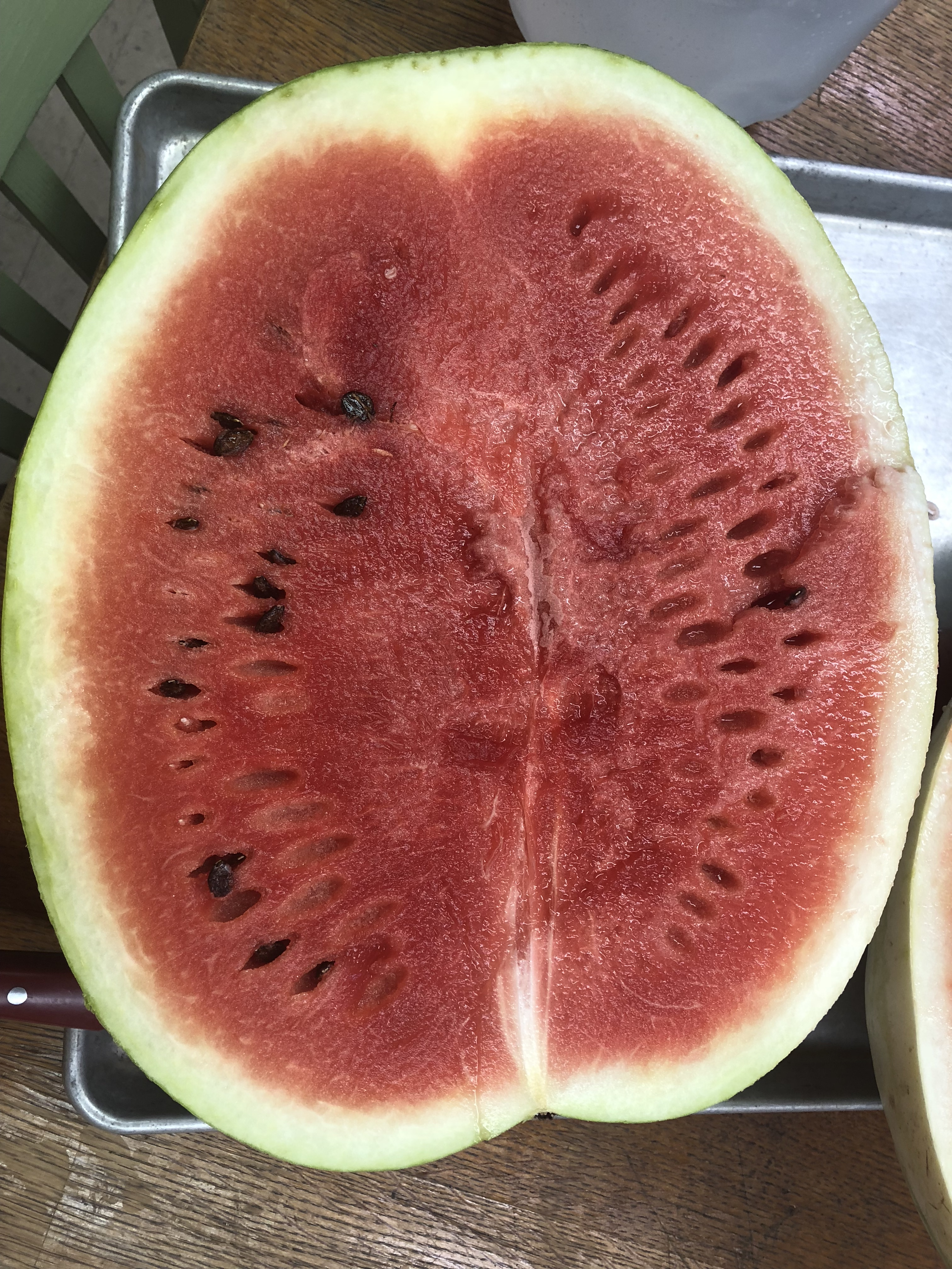 Cut watermelon.