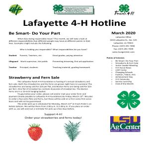 2019-2020 4-H Hotline Newsletter