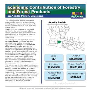 Economic Contribution of Forestry and Forest Products on Acadia Parish, Louisiana