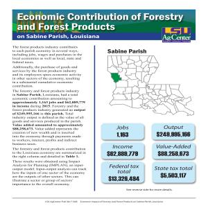 Economic Contributions of Forestry and Forest Products on Sabine Parish, Louisiana