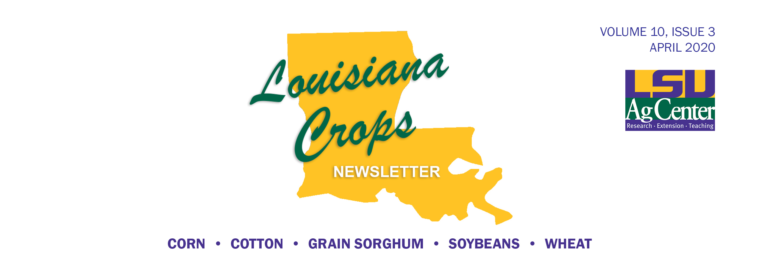 Louisiana Crops Newsletter April 2020 header copy.