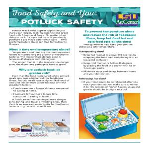 Food Safety and You: Potluck Safety
