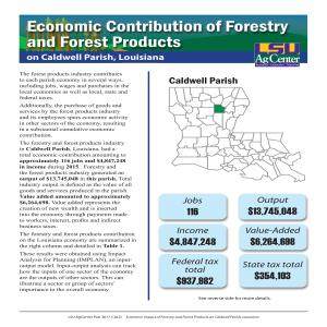 Economic Contribution of Forestry and Forest Products on Caldwell Parish, Louisiana