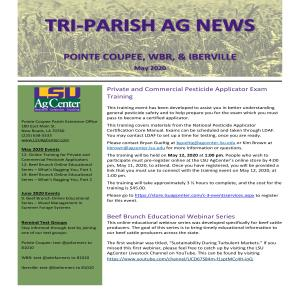 Tri-Parish AG News - May 2020