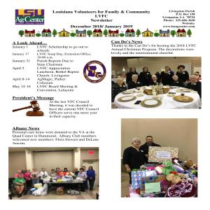 LVFC December 2018/January 2019 Newsletter