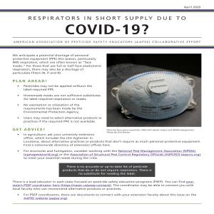 Respirators in short supply because of COVID-19?