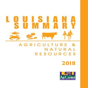 2018 Louisiana Summary: Agriculture and Natural Resources
