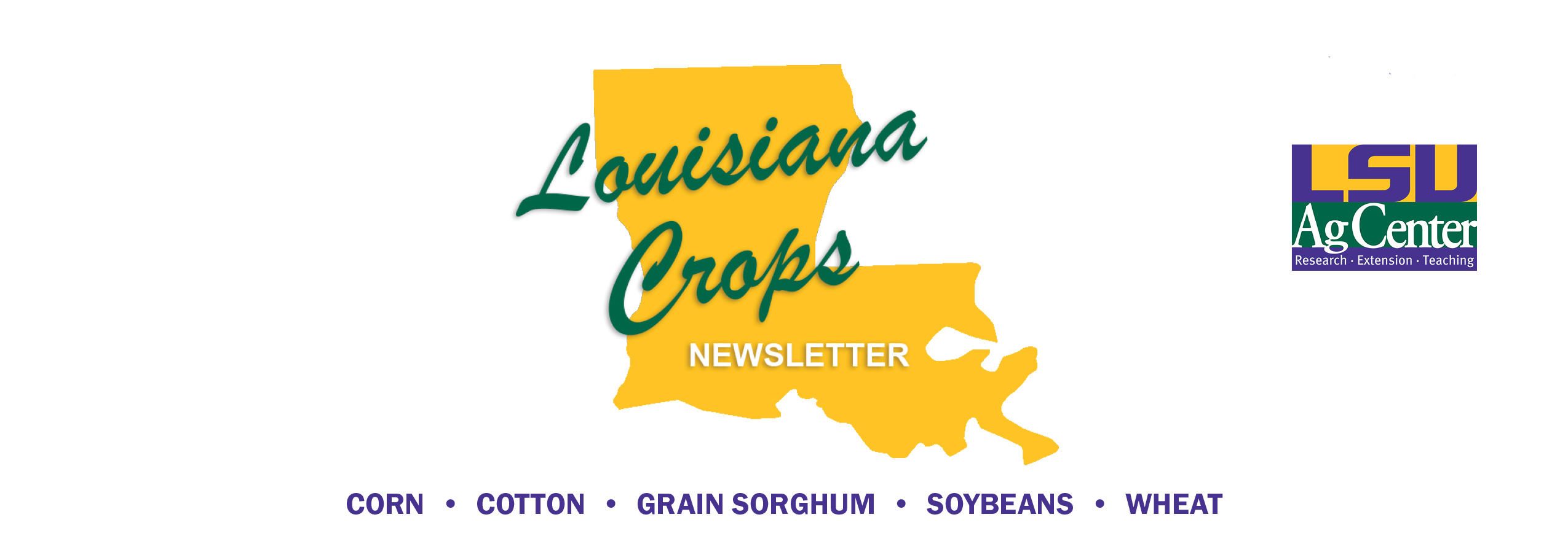 Louisiana Crops Newsletter Plain Banner.