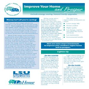 Improve Your Home and Prosper