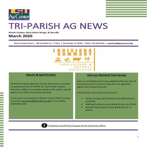 Tri-Parish AG News - March 2020