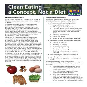 Clean Eating - a Concept, Not a Diet