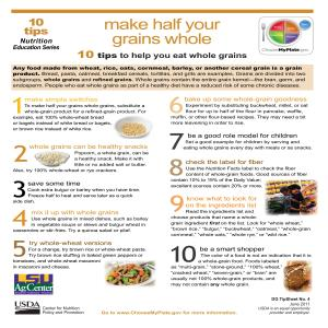 Make half your grains whole: 10 tips to help you eat whole grains