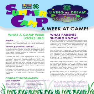 4-H Summer Camp Registration Starts Now!