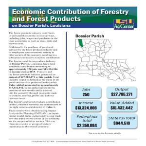 Economic Contribution of Forestry and Forest Products on Bossier Parish, Louisiana