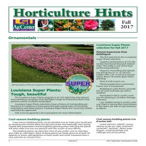 Horticulture Hints Fall 2017