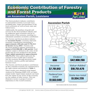 Economic Contribution of Forestry and Forest Products on Ascension Parish, Louisiana