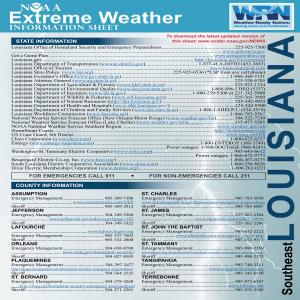 NOAA Extreme Weather Information Sheet