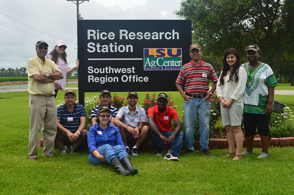 GSD members at Rice Research Station in Crowley, LA