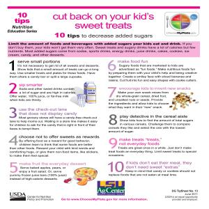 Cut back on your kid's sweet treats: 10 tips to decrease added sugars