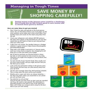 ​Save Money by Shopping Carefully!