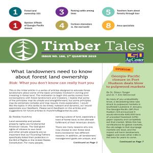 Timber Tales, Issue No. 166, 1st Quarter 2019