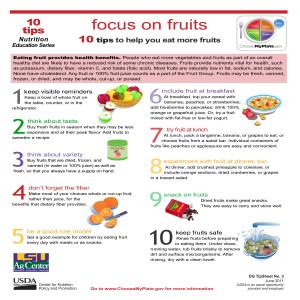 Focus on fruits: 10 tips to help you eat more fruits