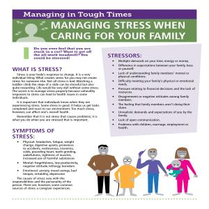 Managing Stress When Caring For Your Family