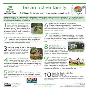 Be an active family: 10 tips for becoming more active as a family